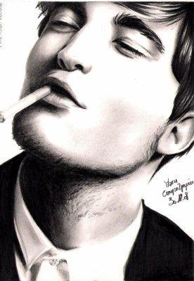 Robert Pattinson Drawing on Dessin De Robert Pattinson